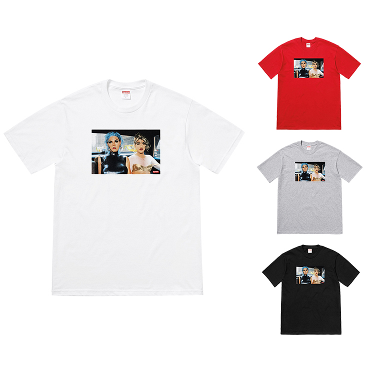18SS Supreme X Nan Goldin Misty And Jimmy Paulette Tee 4 Color