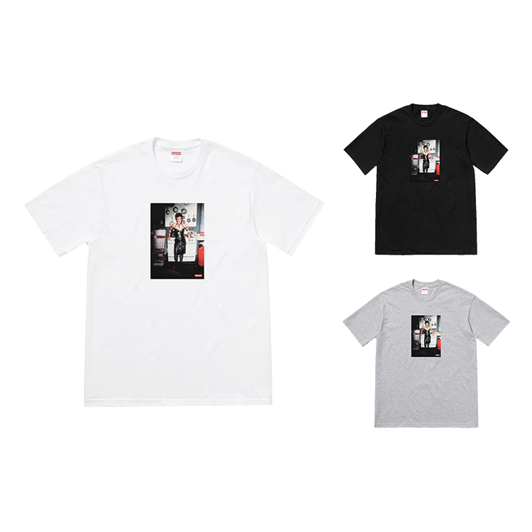 18SS Supreme X Nan Goldin Nan As A Dominatrix Tee 3 Color