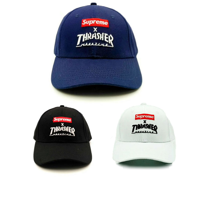 Supreme X Thrasher Logo Cap 3 Color