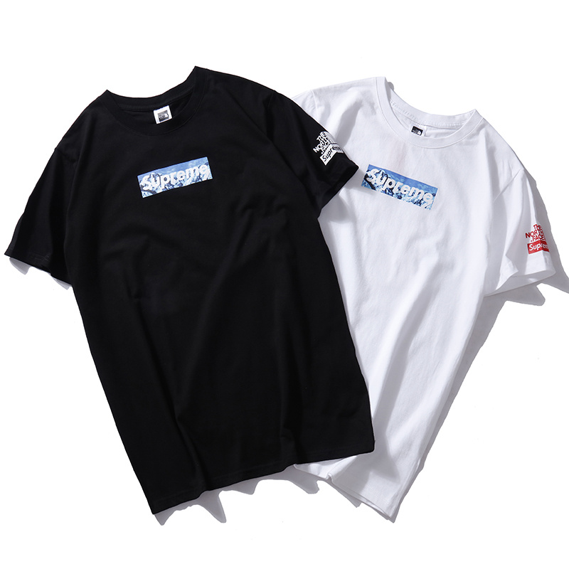 Supreme X The North Face Logo T-Shirt 2 Color