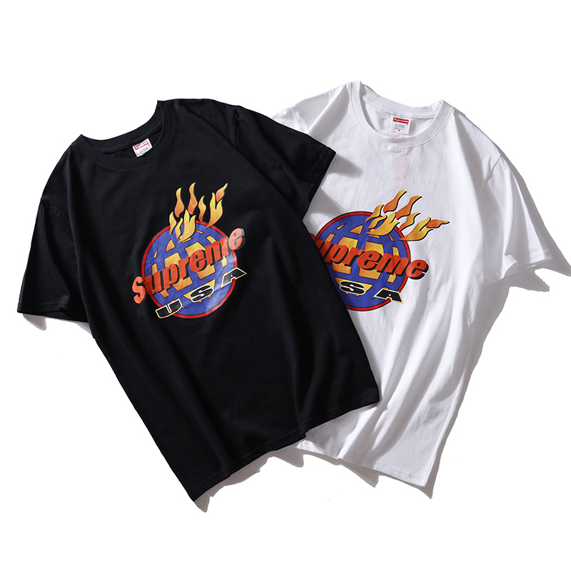 Supreme Fire Tee USA T-Shirt 2 Color