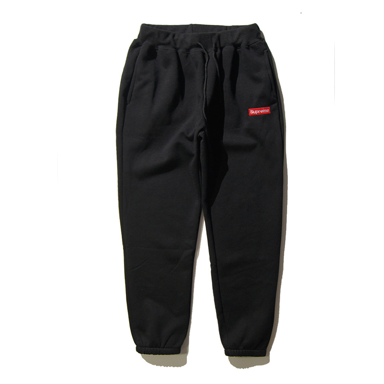 16SS Supreme Logo Sweat Pants Black