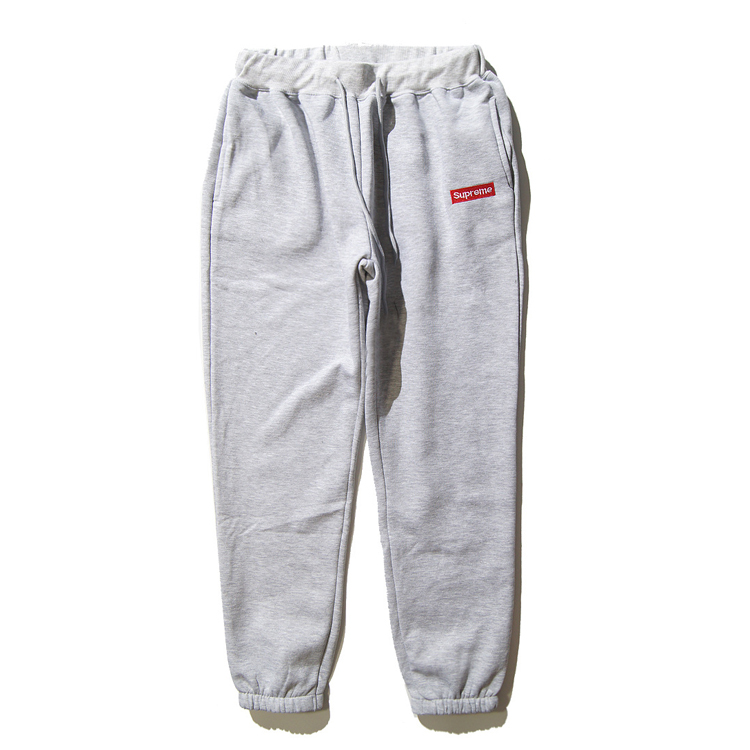 16SS Supreme Logo Sweat Pants Grey