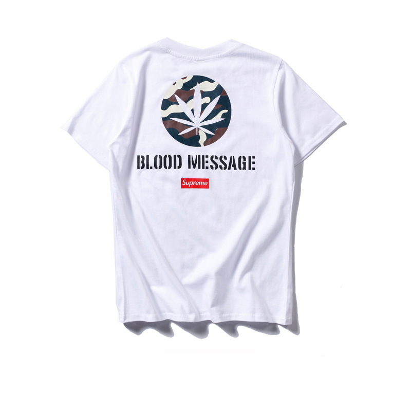 2017 New Supreme Round Neck T-shirt Men/Women White