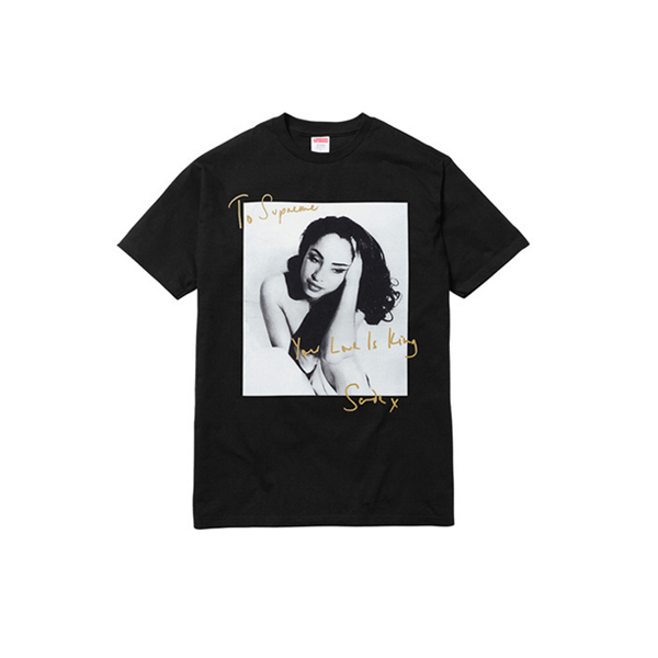 2017 SS New Supreme Sade T-shirt Black