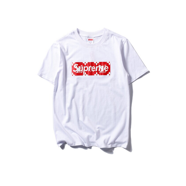 2017 Hot Supreme x Louis Vuitton T-Shirt White