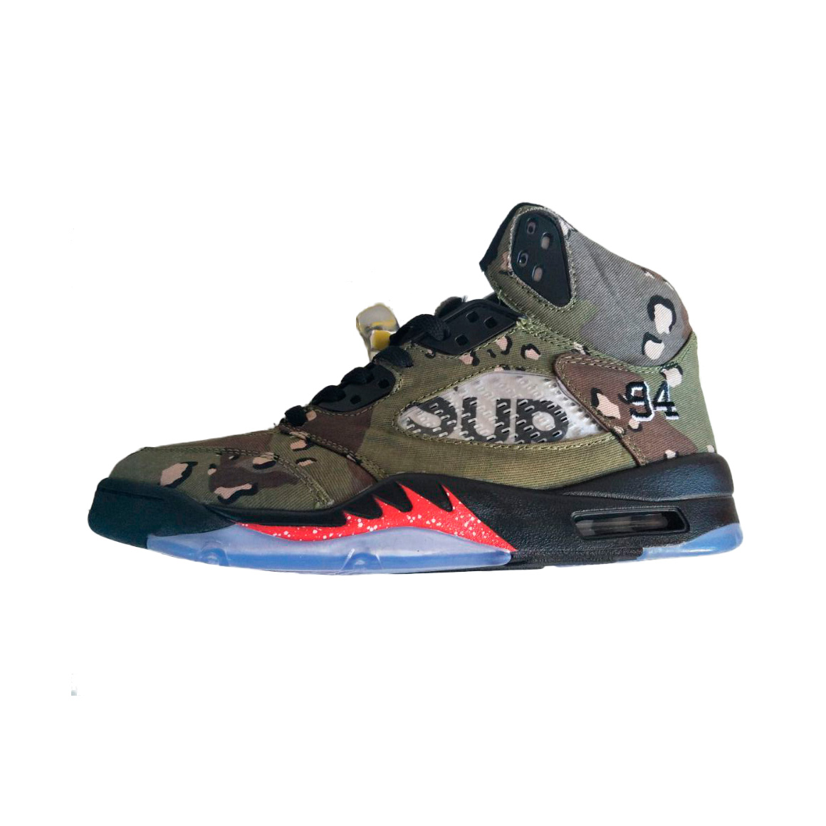 Supreme x Nike Air Jordan 5 Men Basketball Shoes Desert Camo