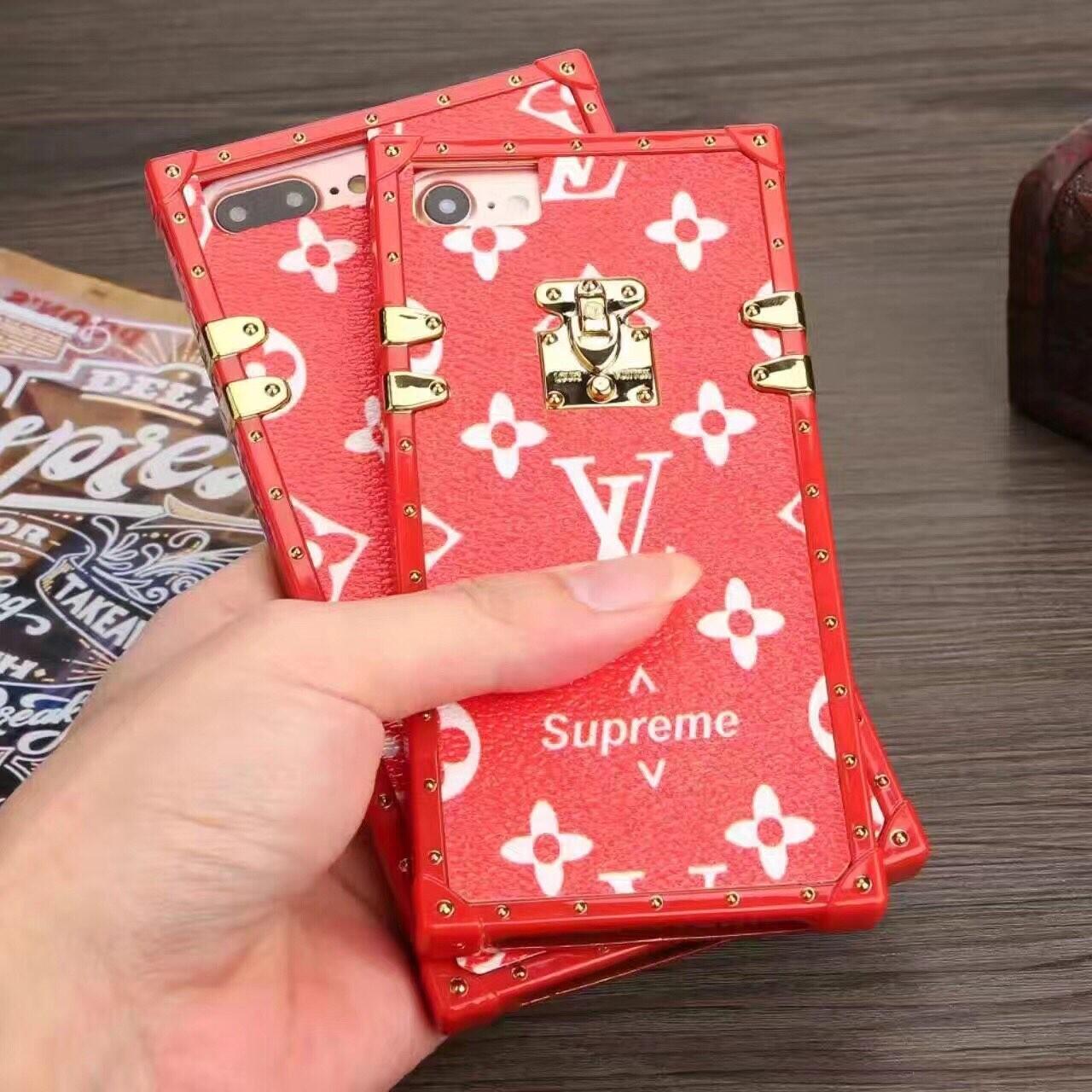 1d529d499563 Supreme x Louis Vuitton Black Shaking Design iPhone 8 Plus Case. null.  null. null