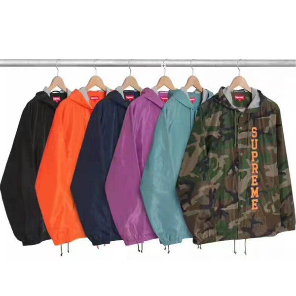 Supreme Vertical Logo Hooded Coaches Jacket 6 Color