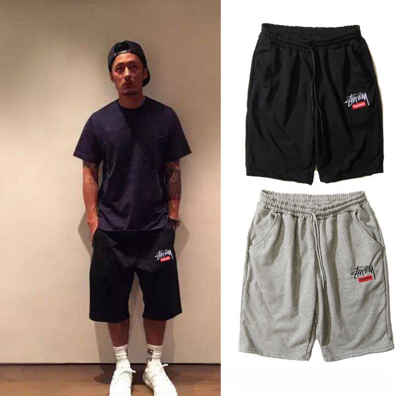 Supreme×Stussy Sports Shorts 2 Color