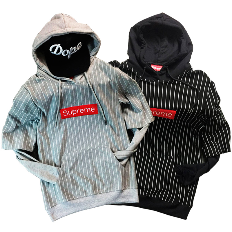 17FW Supreme Box Logo Hooded Sweatshirt Pullover 2 Color
