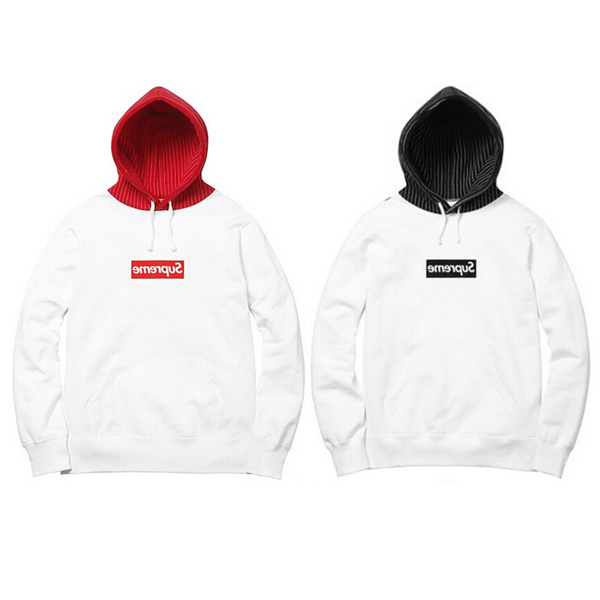Supreme X COMME Des GARCONS Back Print Hoodie Sweatshirt 2 Color