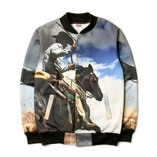 Supreme Cowboy Print  Jacket Black