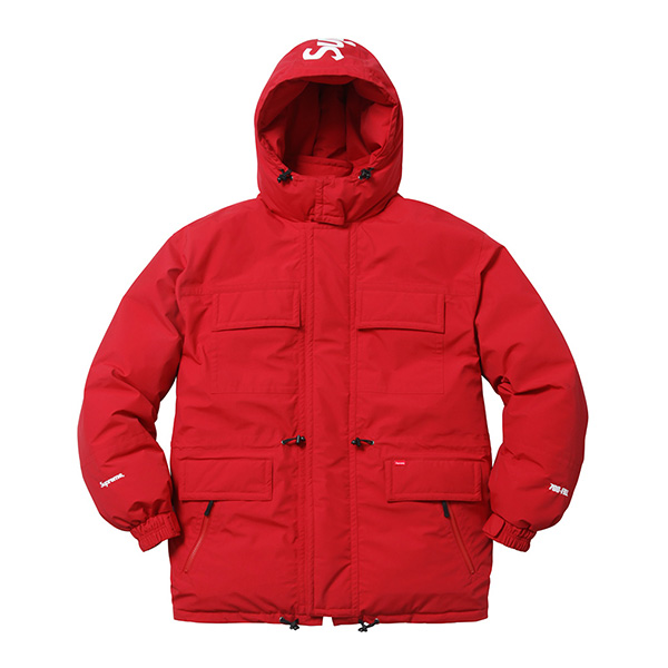 Supreme Downtown Down Parka Red