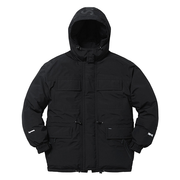 Supreme Downtown Down Parka Black