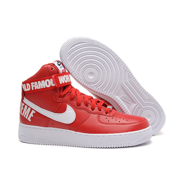 Supreme X Nike Air Force 1 High Sneakers Red