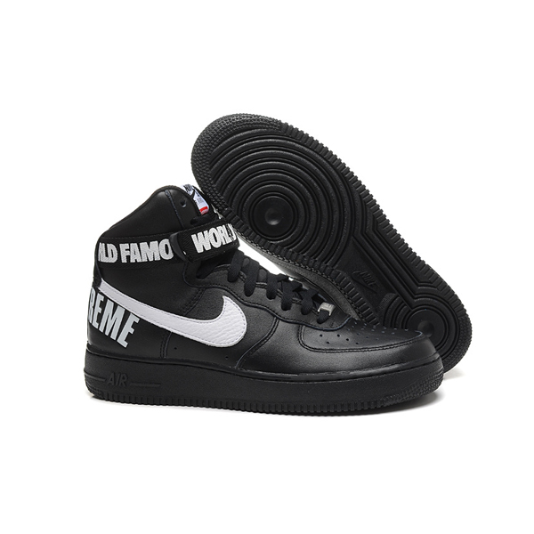 Supreme X Nike Air Force 1 High Sneakers Black