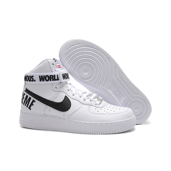 Supreme X Nike Air Force 1 High Sneakers White