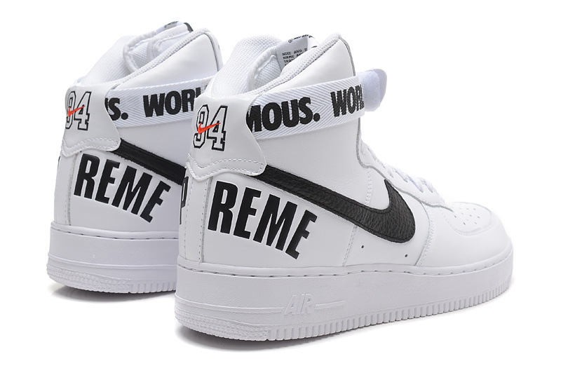 the best attitude 3ad81 6f65a ... Supreme X Nike Air Force 1 High Sneakers White ...