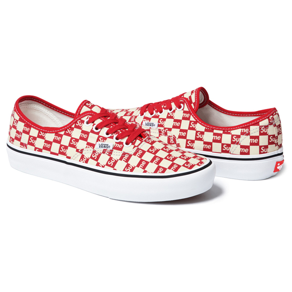 17SS VANS X Supreme Logo Sneakers Red