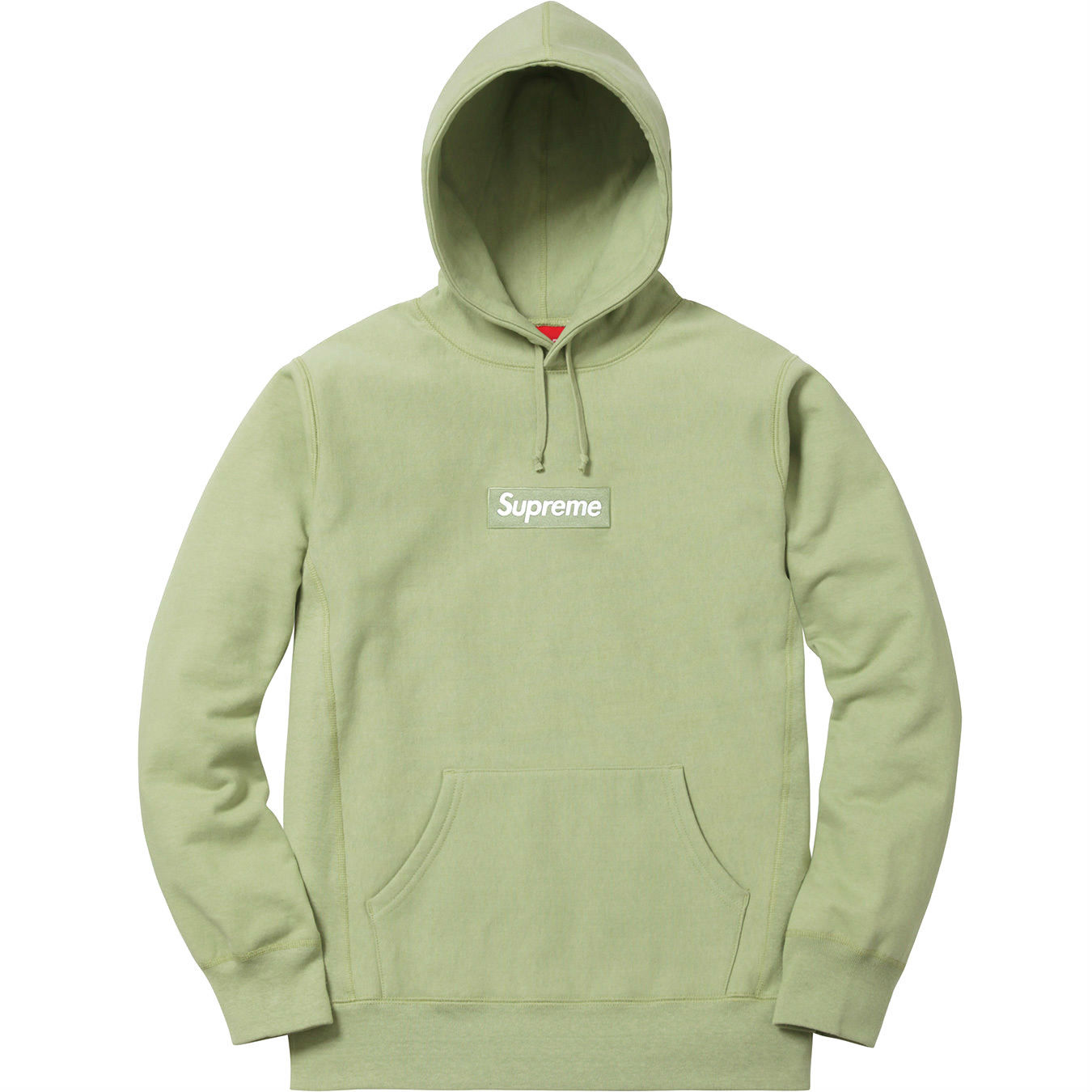Supreme Box Logo Hooded Sweatshirt Sage