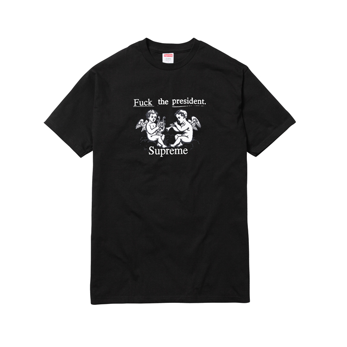 2017 New Supreme Fuck The President Tee Black