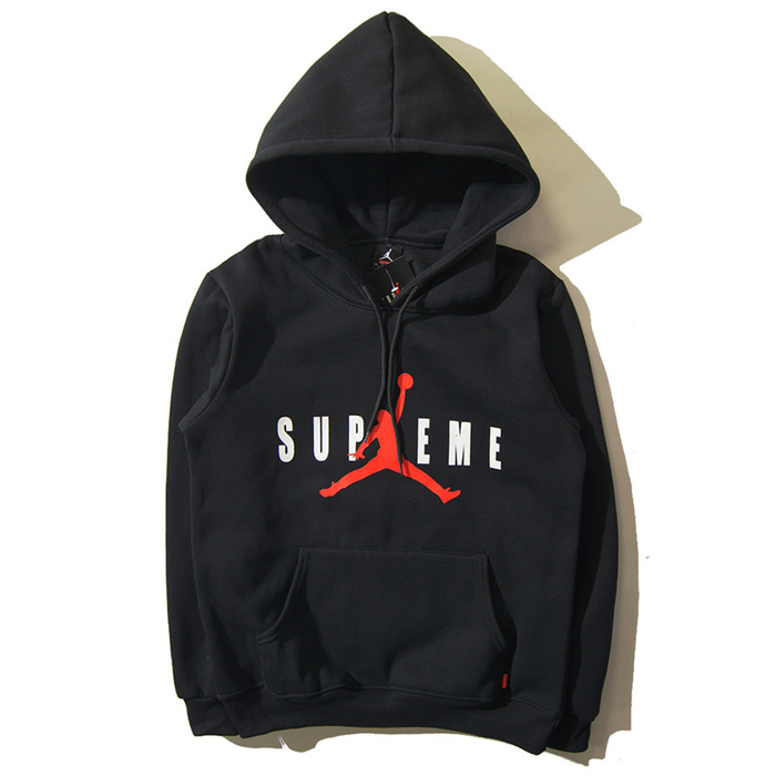 Supreme x Jordan Hooded Sweatshirt Box Black