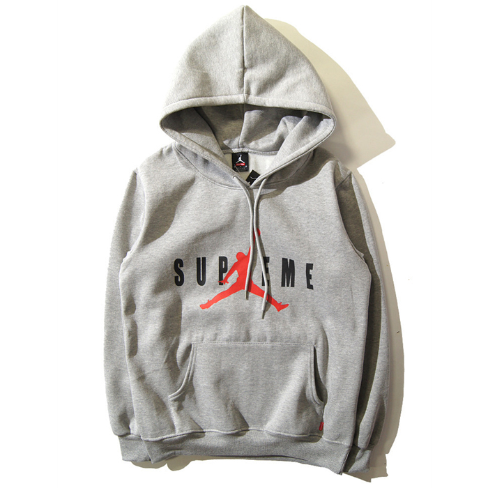 Supreme x Jordan Hooded Sweatshirt Box Gray