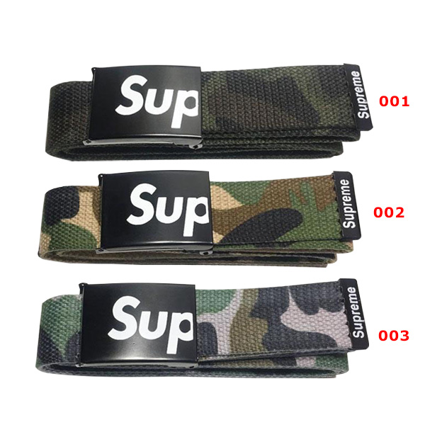 Supreme Canvas Camo Automatic Buckle Belt 3 Color