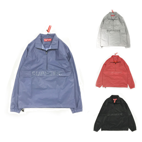 Supreme Reflective Half Zip Pullover 3M Jacket 4 Color