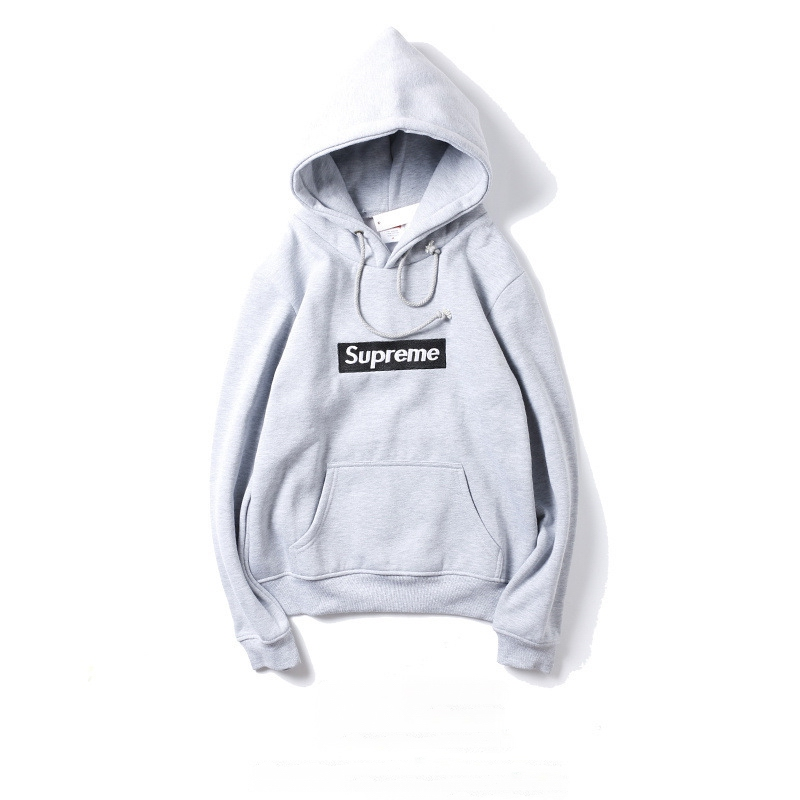 Supreme Box Logo Embroidery Hooded Sweatshirt