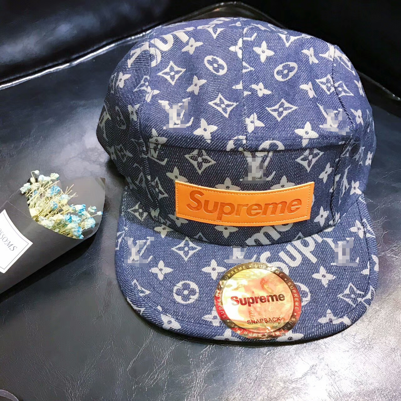 17SS Supreme X Louis Vuitton Logo Cap