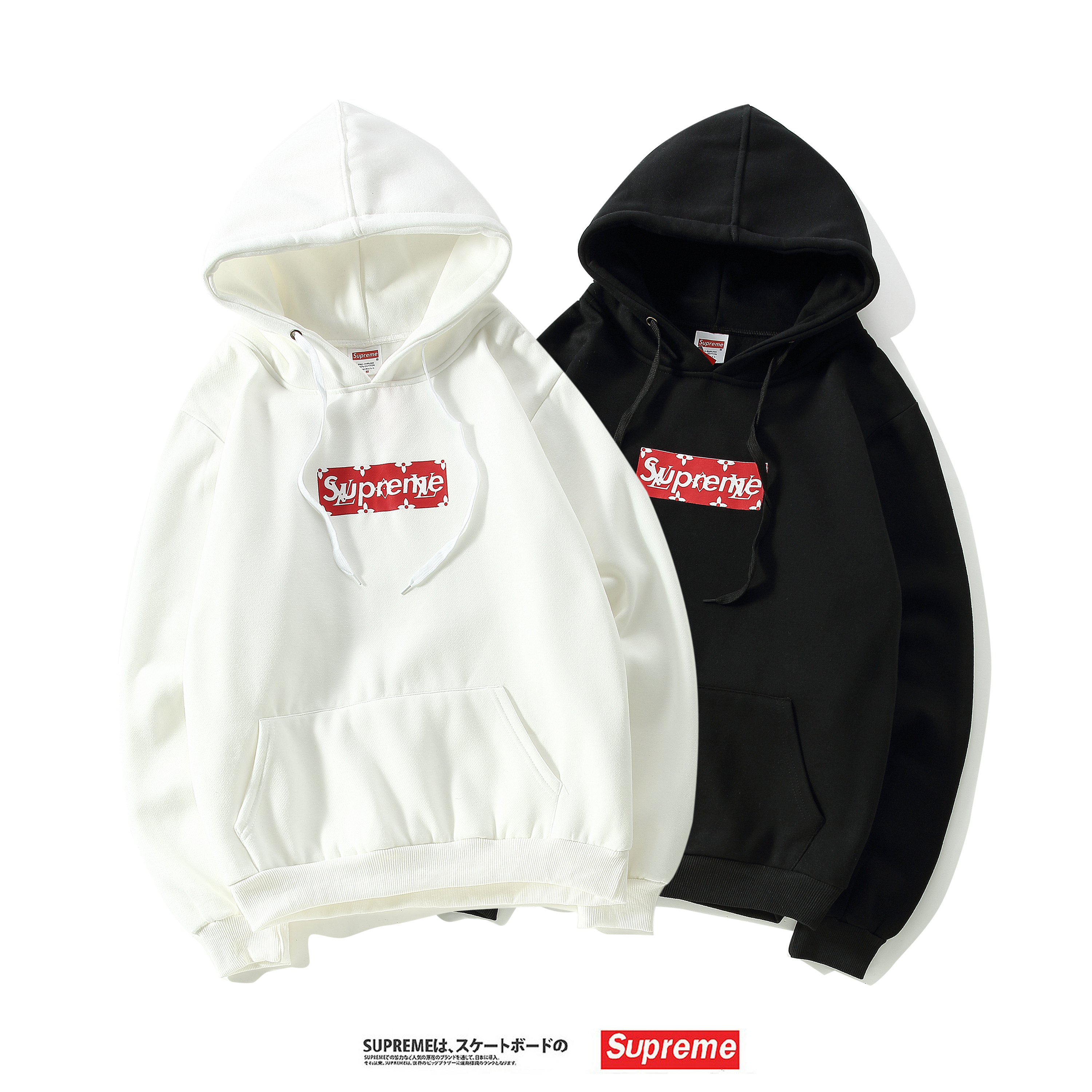 17SS Supreme X Louis Vuitton Logo Hooded Sweatshirt 2 Color