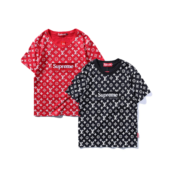 2017 Hot Supreme X Louis Vuitton T-shirt  2 Color