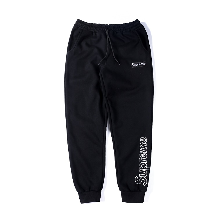 Supreme Big Logo Black Label Casual Pants Black