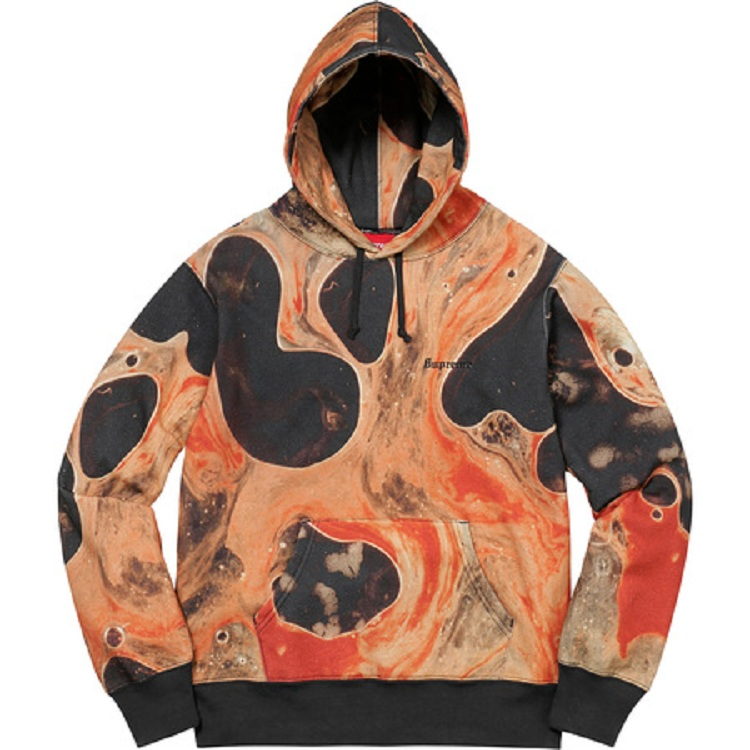 17FW Supreme Blood And Semen Hooded Sweatshirt