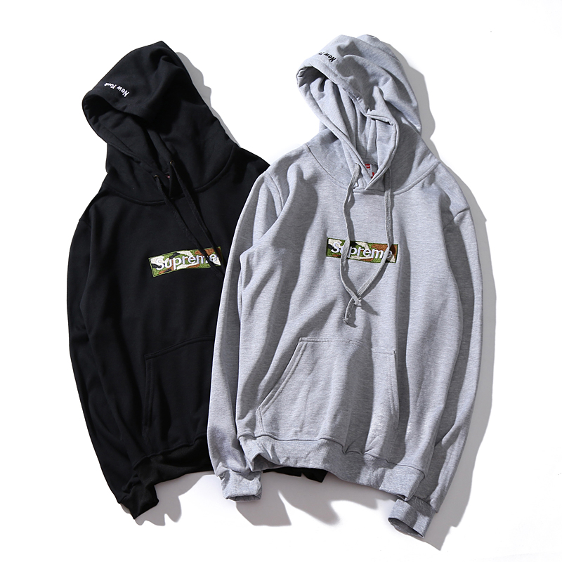 Supreme NY Camo Box Logo Hooded Sweatshirt 2 Color
