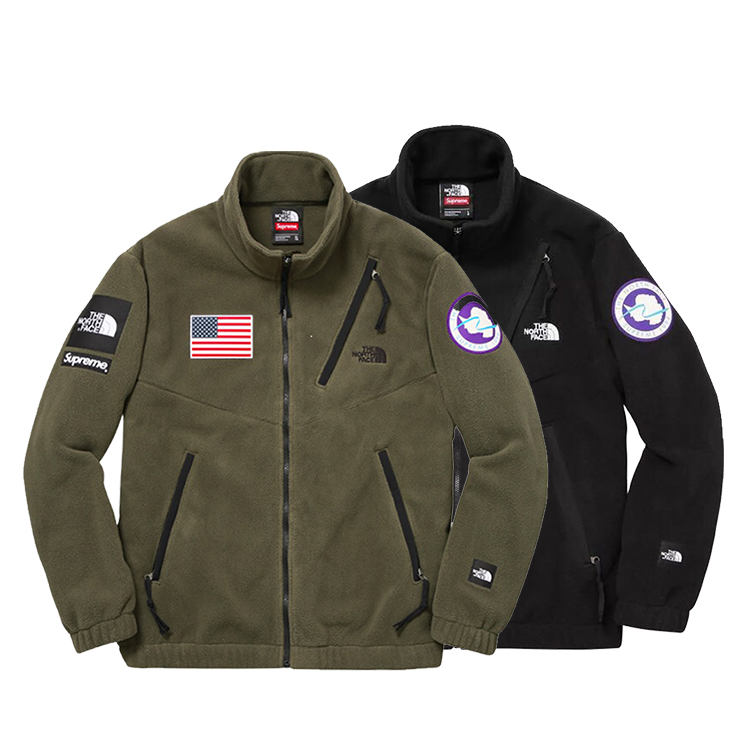 17SS Supreme X The North Face Fleece Jacket 2 Color