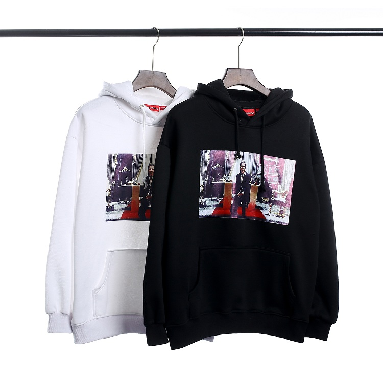 17FW Supreme Scarface Friend Hooded Sweatshirt 2 Color