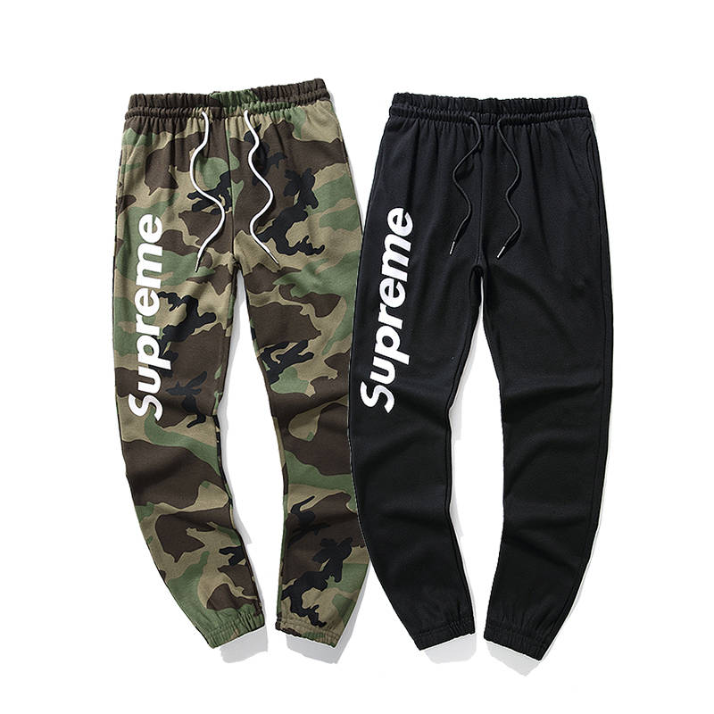 Supreme Side Logo Casual Pants Black