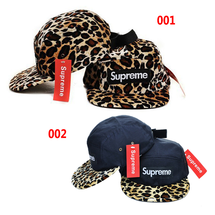 Supreme Leopard Print 5-Panel Cap 2 Color