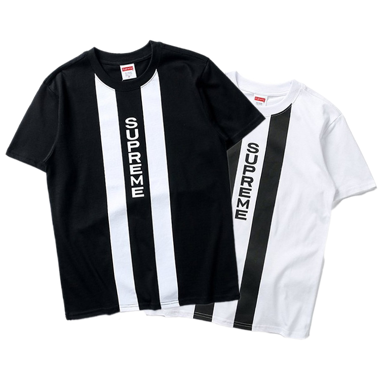 Supreme Vertical Logo Panel Tee 2 Color