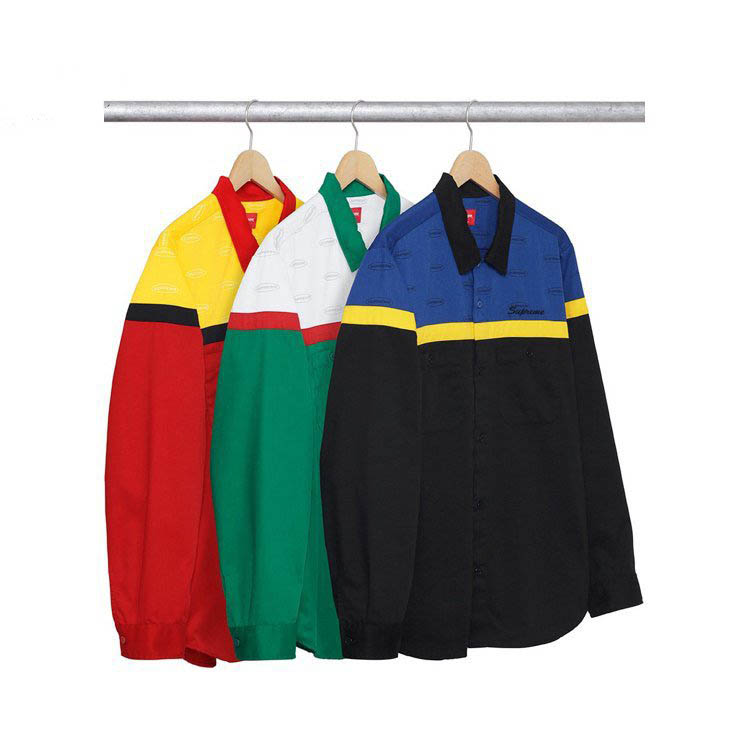 17FW Supreme Color Blocked Work Shirt 3 Color