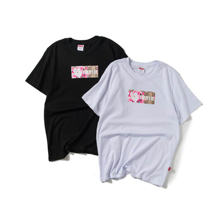 Supreme Flowers Box Logo Tee 2 Color