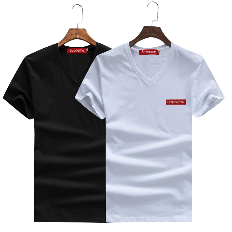 2018 Hot Superme V-Neck T-Shirt 2 Color