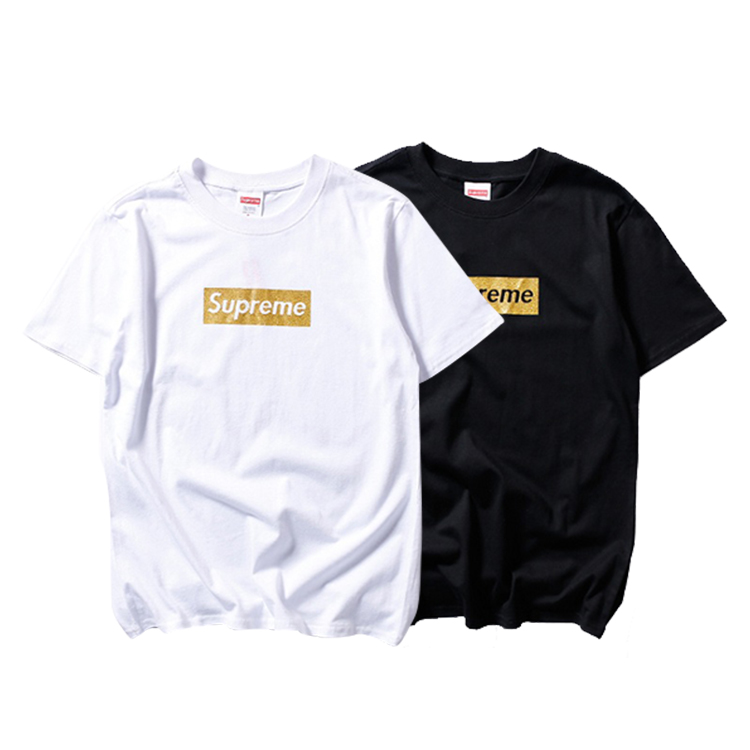 Supreme Golden Box Logo T-Shirt 2 Color