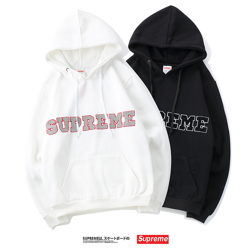 18FW Supreme Fleece Logo Hooded 2 Color