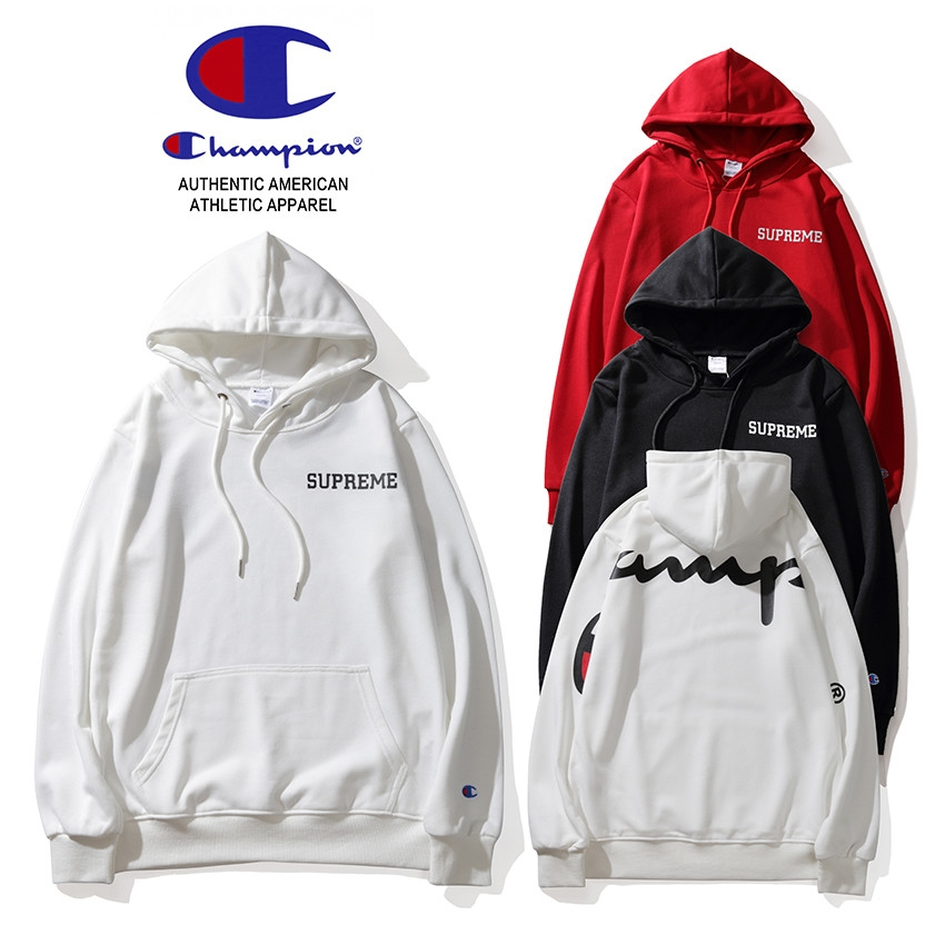 18FW Supreme X Champion Logo Hooded 3 Color