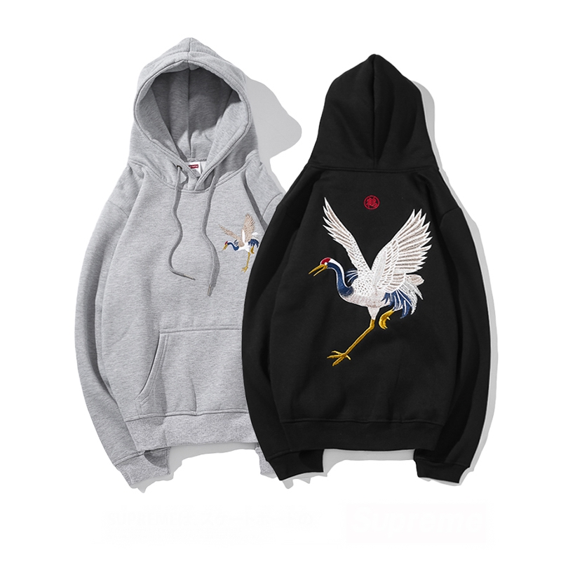 Supreme Crane Print Hooded Sweatshirt 2 Color