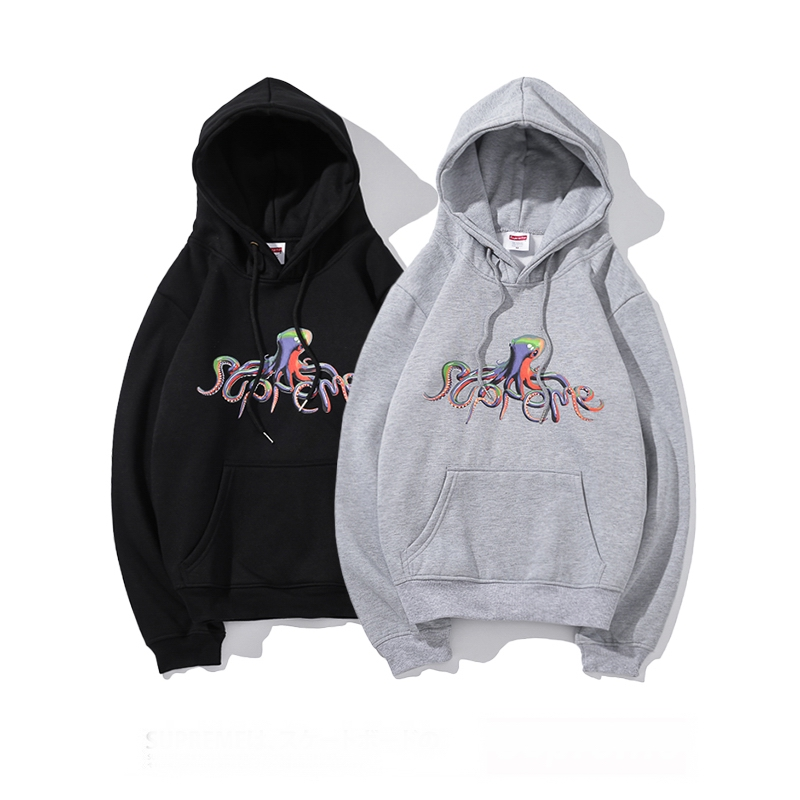 Supreme Octopus Logo Hooded Sweatshirt 2 Color